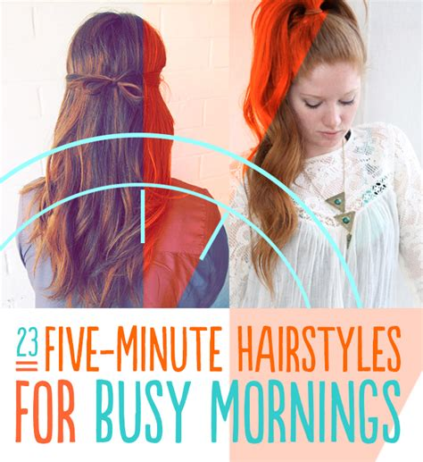 Easy 5 Minute Hairstyles by 23 Five Minute Hairstyles For Busy Mornings