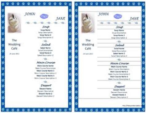Wedding Menu Open Office Templates Microsoft Office Menu Templates