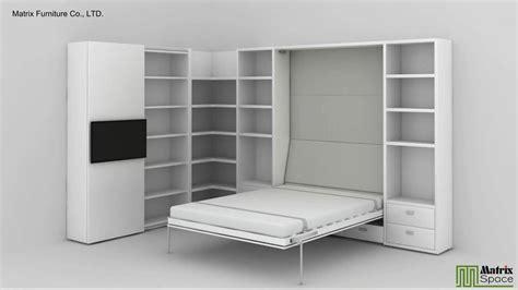 Matrix space wall bed murphy bed space saving furniture suki matrixsz com youtube