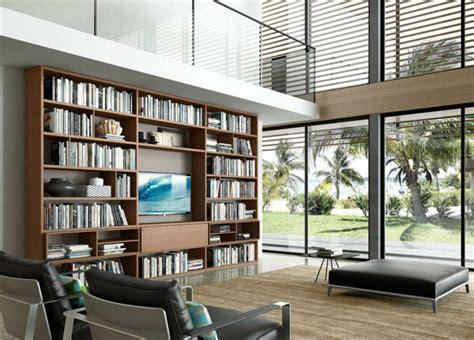 muebles biblioteca muebles tv integrados con biblioteca 75 ideas modernas