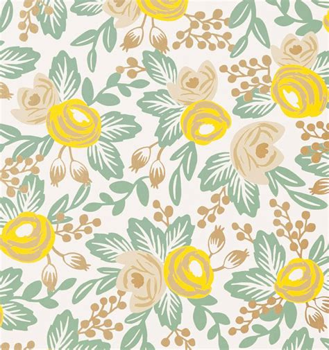 rifle paper company wallpaper rosa yellow wallpaper by hygge west made in usa