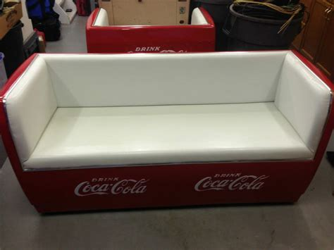 cooler couch vintage coca cola couch with tray original cooler conversion