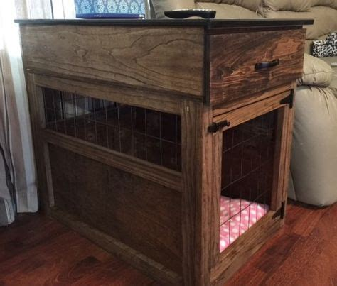 dog crate  table diy love      drawer