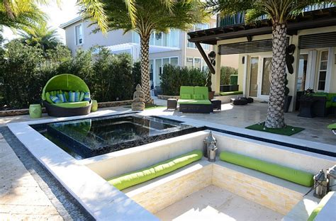cool patios sunken seating areas that spark conversations