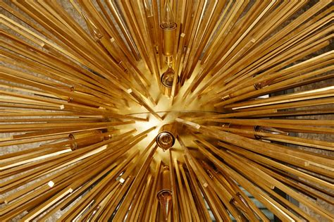 Stunning Sun Chandelier With Brass Peaks At 1stdibs Sun Chandelier
