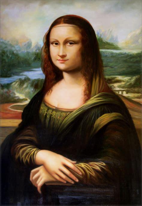 painting mona framed da vinci mona repro quality painted