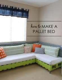 how to make a l diy kid s pallet bed