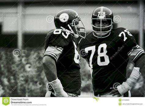 steel curtain members ernie holmes and dwight white editorial stock photo