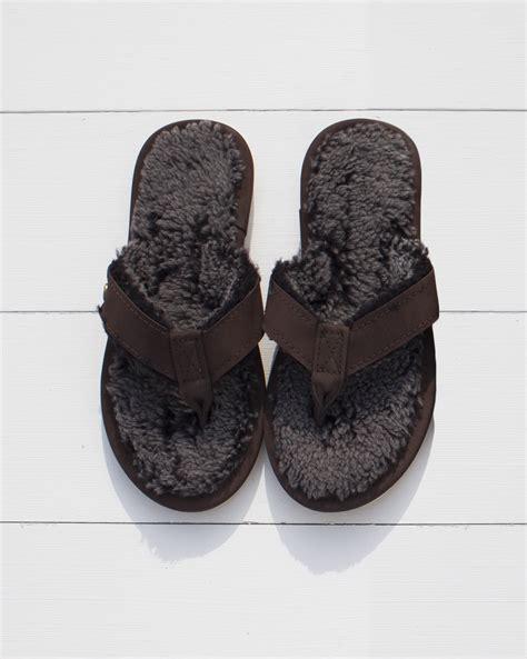 shearling flip flop slippers shearling flip flops