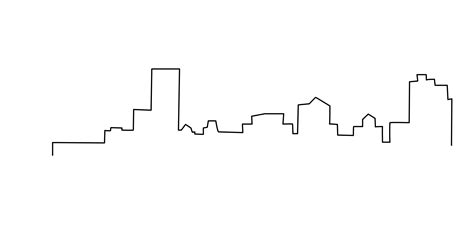 quickly did a minimal sketch of the mke skyline for a