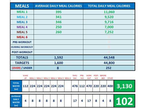 Brazil Lift Calendar Excel Spreadsheet Workout Calendar Exercise Tracker Tool