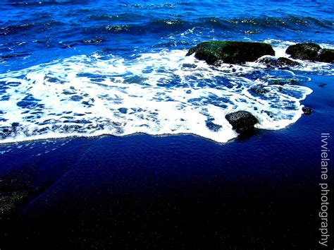 black sand 3 5 black sand 5 x 7 color photograph navy