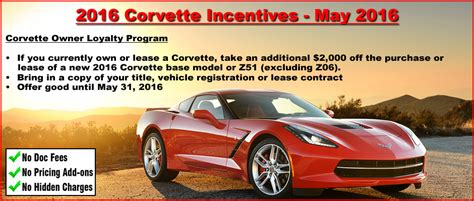 2016 corvette incentive deals continue for may