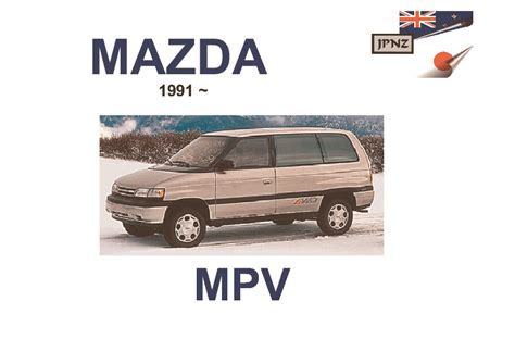 mazda mpv car owners user manual 1991 1997