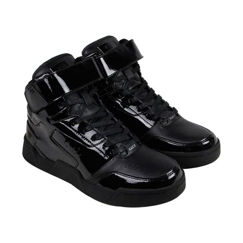 mens leather high top sneakers radii segment mens black patent leather high top lace up
