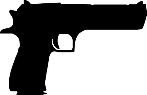 Desert Eagle Outline by Gun Decals Desert Eagle Gun Decal Sticker