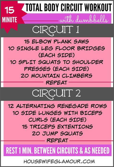 the 15 minute one dumbbell 15 min total body dumbbell circuit workout life in leggings