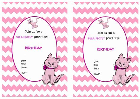 Free Printable Birthday Invitations With Cats | cat lovers birthday invitations birthday printable
