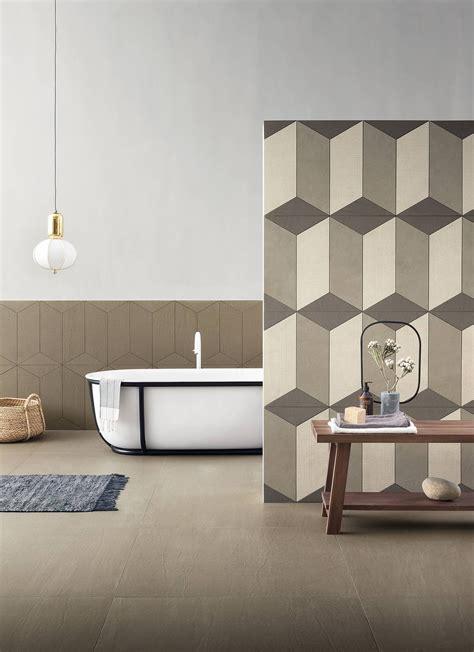 lea piastrelle piastrelle effetto tessuto o tridimensionale per un bagno