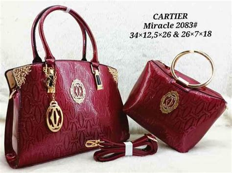 Tas Cartier 2in1 tas branded 2 in 1 cartier miracle 2083 glossy zyalfath