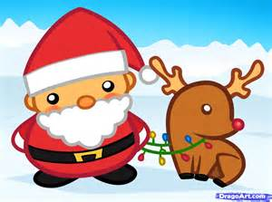 To draw santa and rudolph santa and rudolph step by step christmas