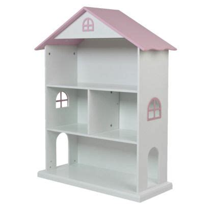 Dollhouse Bookcase White Pink Foremost Dollhouse