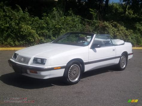 chrysler lebaron gtc 1989 chrysler lebaron gtc turbo convertible in bright