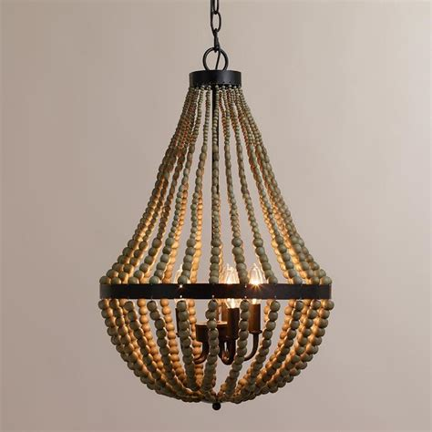 Wood Bead Chandelier Wood Bead Chandelier Pottery Barn