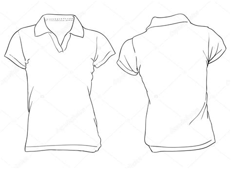 womens white polo shirt template stock vector 169 airdone