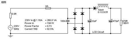 inductor bank power factor passive pfc