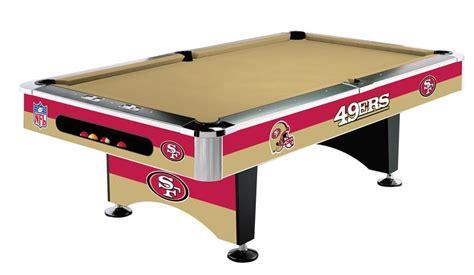 san francisco 49ers pool table