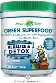 Label Detox Tea Coffee Beverages by Amazing Grass Kosher Green Superfood Drink Powder Alkalize