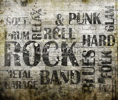 Virtual Interior Home Design by Grunge Rock Music Poster Roll Wall Mural Guitar