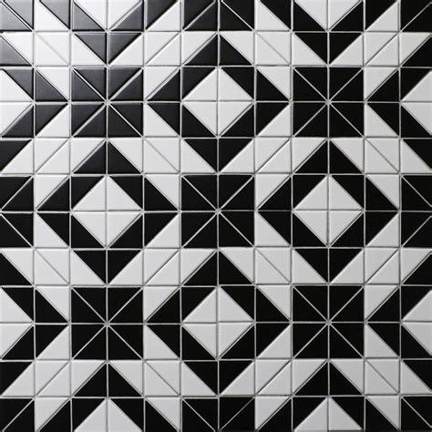 cheap price 2 black white triangle tile porcelain floor