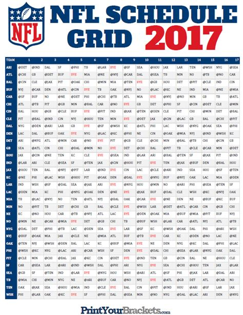 printable nfl schedule 2017 trendopic trending topics breaking news daily