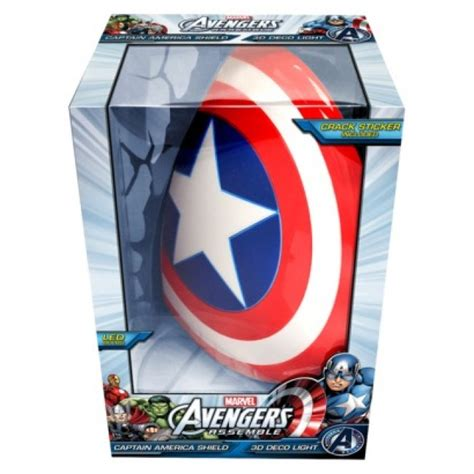 captain america shield light target 3d lightfx marvel captain america shield deco light toy