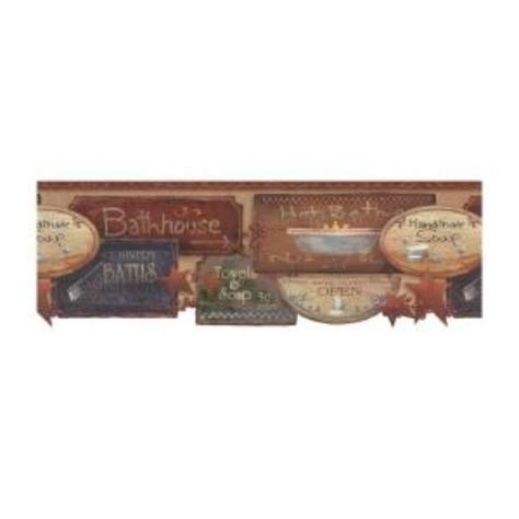 bathroom border wallpaper rustic bath signs wallpaper border jn1848b country bathroom