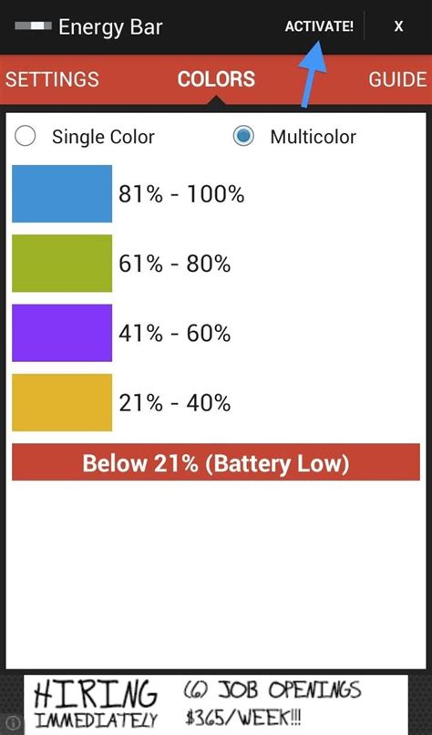 battery color changer color code battery levels with an energy beam for your