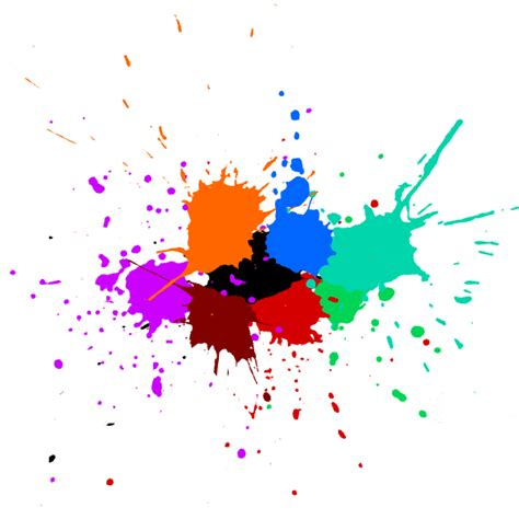 5 colorful paint splash background vector svg onlygfx