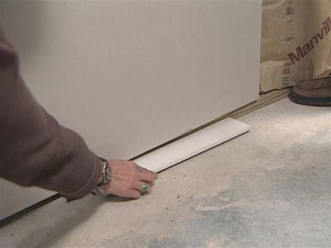 installing drywall ceiling in basement how to install basement drywall how tos diy