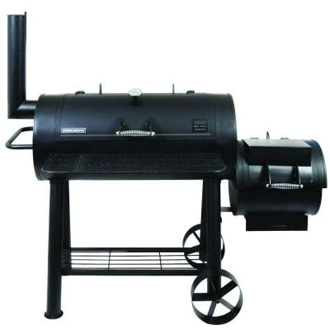 home depot grills brinkmann heavy set smoker and grill 855 6306 s