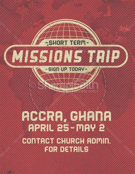 Short Term Mission Trip Religious Flyer Template Flyer Templates Term Mission Trip Application Template