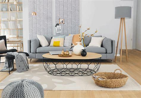 wohnzimmer holz grau skandinavisch wohnen homemate interior design