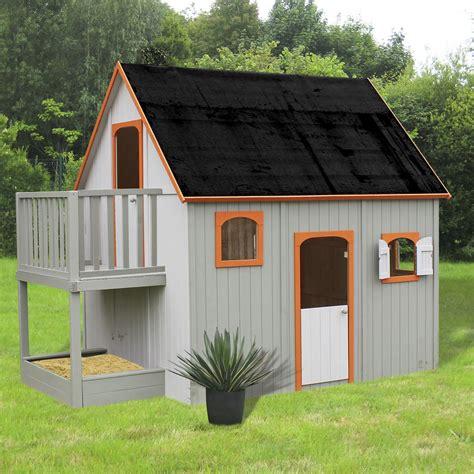 maisonnette enfant jardin maisonnette en bois avec mezzanine balcon et bac 224 pour enfant duplex nouveaut 233 s les