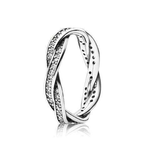 pandora rings twist of fate stackable ring clear cz pandora jewelry us