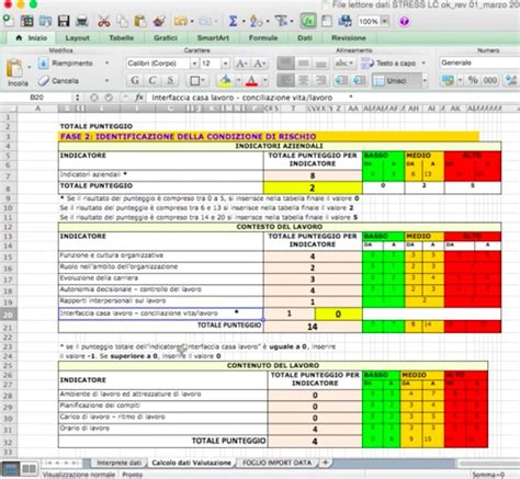 Modello Valutazione Stress Lc Con App Iauditor Macro Excel Catalogo Iclhub Iauditor Excel Template
