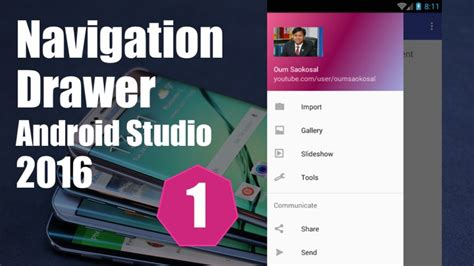 android studio video tutorial youtube latest android studio navigation drawer tutorial part 1
