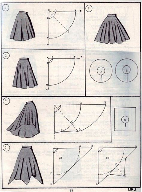 pattern making types high low circle skirt dress sewing project