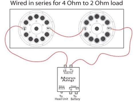 wiring diagram likewise dual 4 ohm subs to 2 ohm speaker