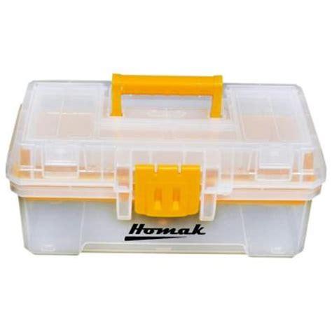 homak 12 in plastic transparent tool box tp00112055 the
